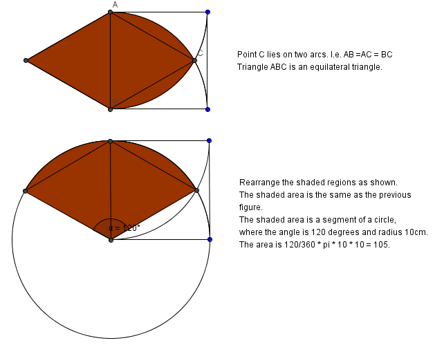 ans equilateral plus 2 quarters